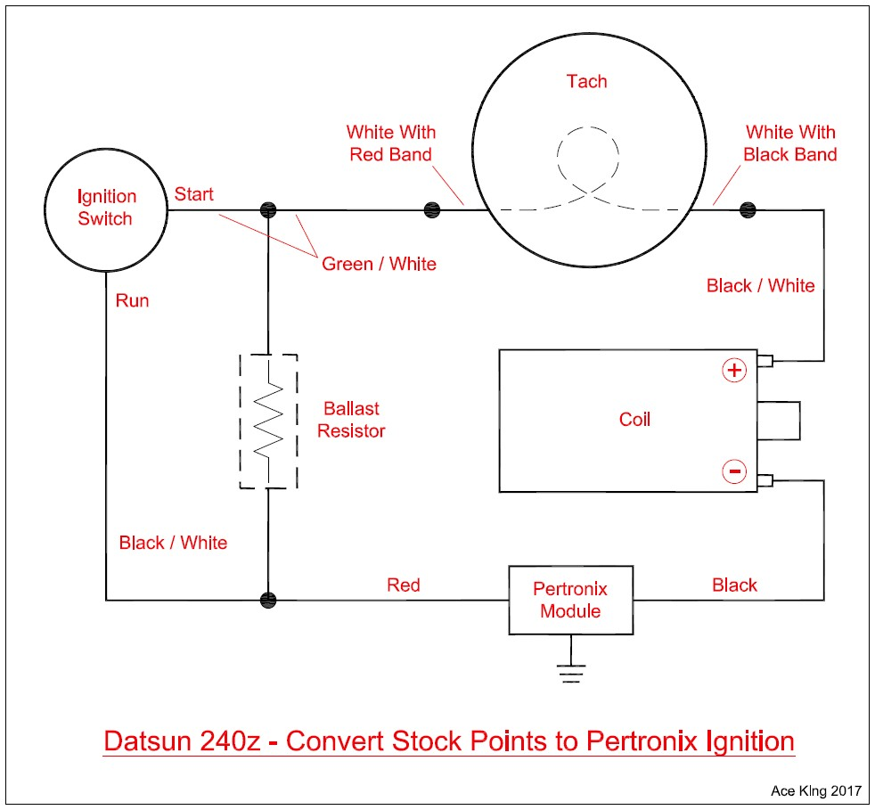 new convert 240z points to pertronix diagram does it look right rh zcar com Pertronix Coil with Ballast Resistor Pertronix Ignitor II Wiring Diagram